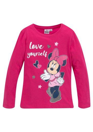 Disney Minnie Mouse Langarmshirt »MINNIE MOUSE« mir süßem Minnie Mouse Motiv