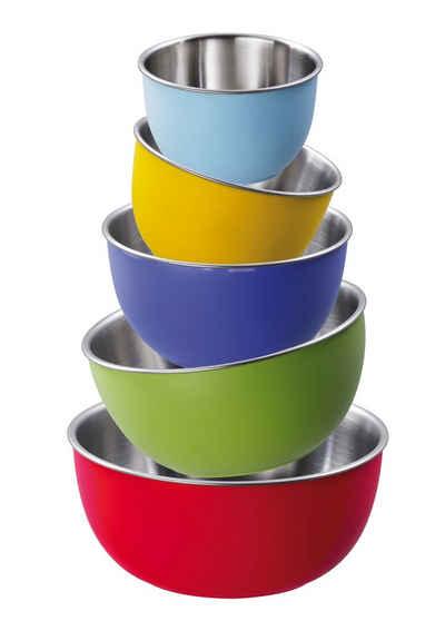 KING Schüssel »Colori«, Kunststoff, (Set, 5-tlg), für den täglichen Gebrauch