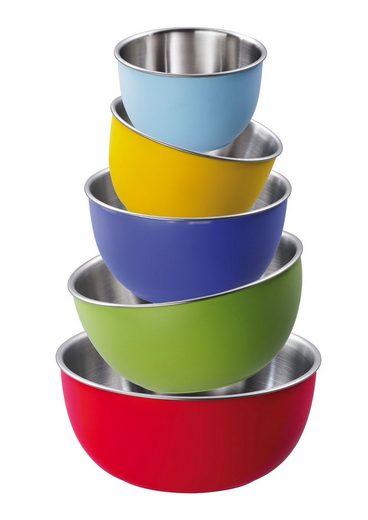 KING Schüssel »Colori«, Kunststoff, (Set, 5 tlg), für den täglichen Gebrauch