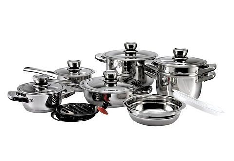 SET: Topfset, »SBS Gourmet Royal«, 16-teilig in silberfarben