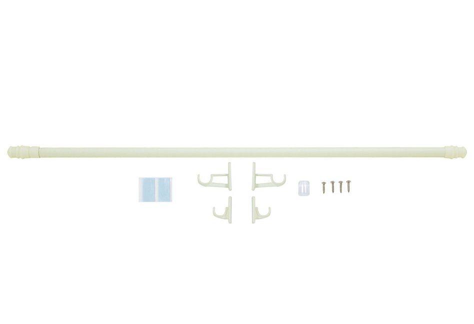 Scheibengardinenstange, indeko, »California«, ausziehbar (2 Stück) in weiß