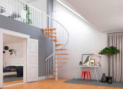 Dolle Spindeltreppe »Montreal«, für Geschosshöhen bis 282 cm, Stufen offen, Ø: 120 cm