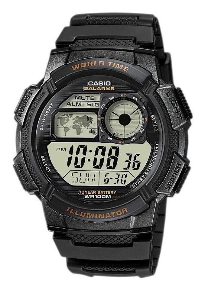 Casio Collection Chronograph »AE-1000W-1AVEF« in schwarz