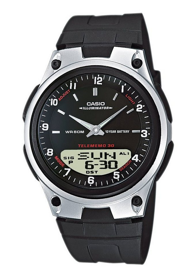 Casio Collection Chronograph »AW-80-1AVES« in schwarz