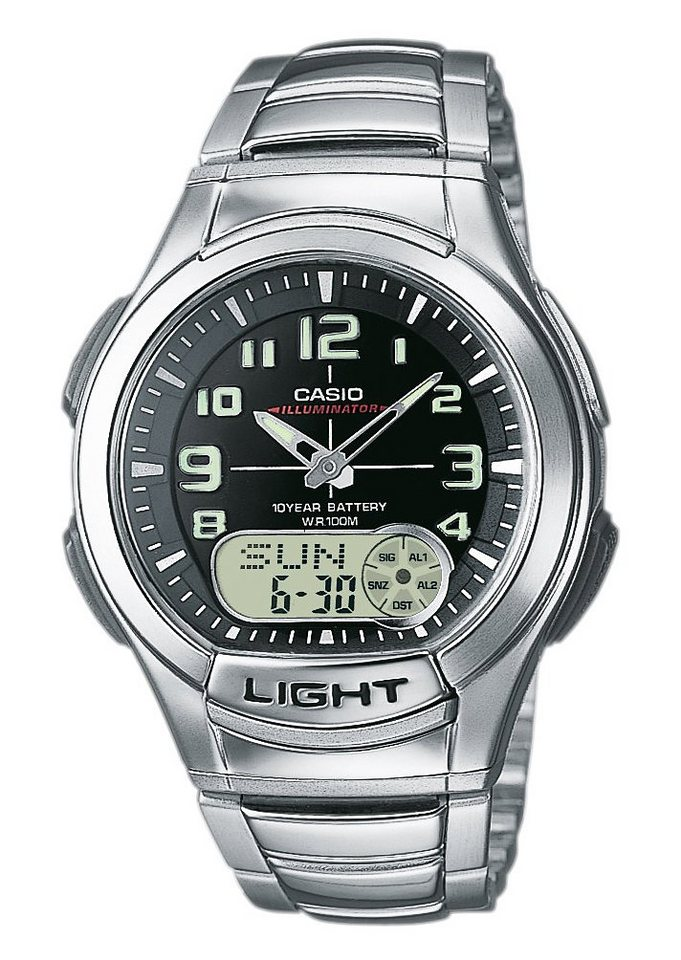 Casio Collection Chronograph »AQ-180WD-1BVES« in silberfarben
