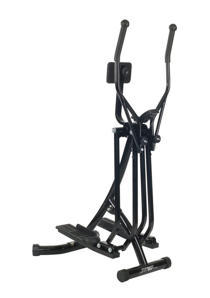 Nordic-Walking-Crosstrainer mit Bauchkissen, Christopeit, schwarz oder silberfarben in schwarz