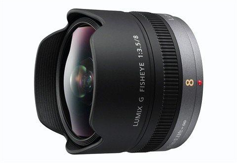 Panasonic H-F008E Lumix G Fisheye 3,5/8mm Fisheye Objektiv in schwarz