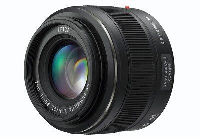Lumix Panasonic H-X025E LEICA DG SUMMILUX 25mm/F1.4 ASPH Festbrennweite Objektiv in schwarz