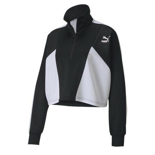 PUMA Sweater »Tailored for Sport Cropped Half Zip Damen Jacke«