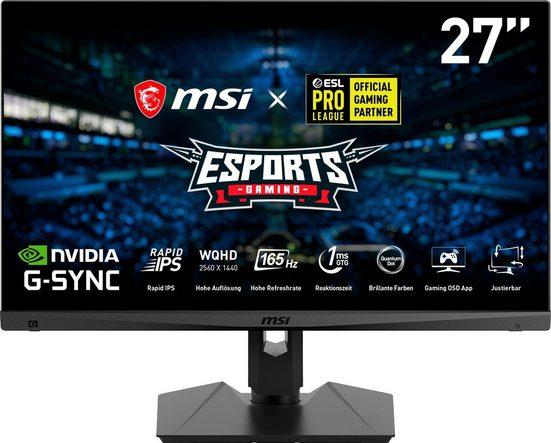 """MSI Optix MAG274QRF-QD Gaming-Monitor (69 cm/27 """", 2560 x 1440 Pixel, WQHD, 1 ms Reaktionszeit, 165 Hz)"""