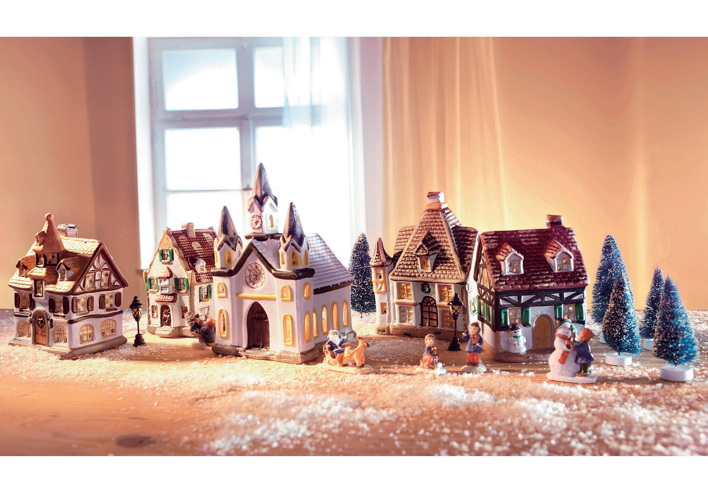 SET: Porzellan-Weihnachtsdorf