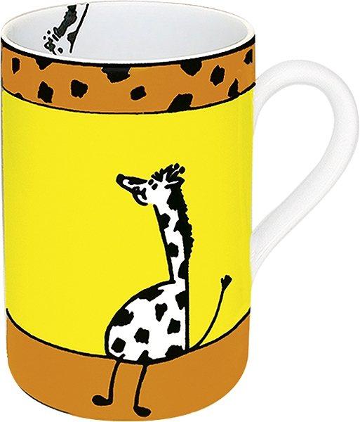 Könitz Becher Tiergeschichten Giraffe in Bunt