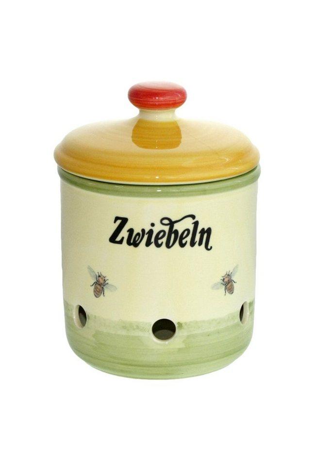 Zeller Keramik Zwiebeltopf »Biene« in Mehrfarbig