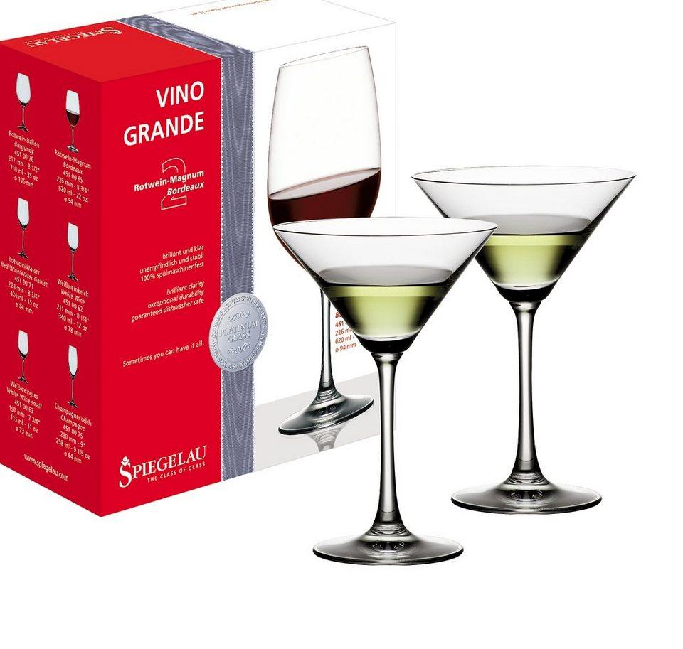 Spiegelau Set: Cocktail - Gläser 2er-Set »Vino Grande« in Transparent