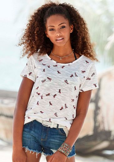 Vivance T-Shirt (2er-Pack) mit schönem Kolibri-Druck