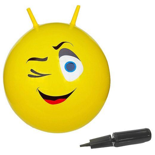 Jamara Hüpfspielzeug »Hüpfball Eye gelb 550mm«