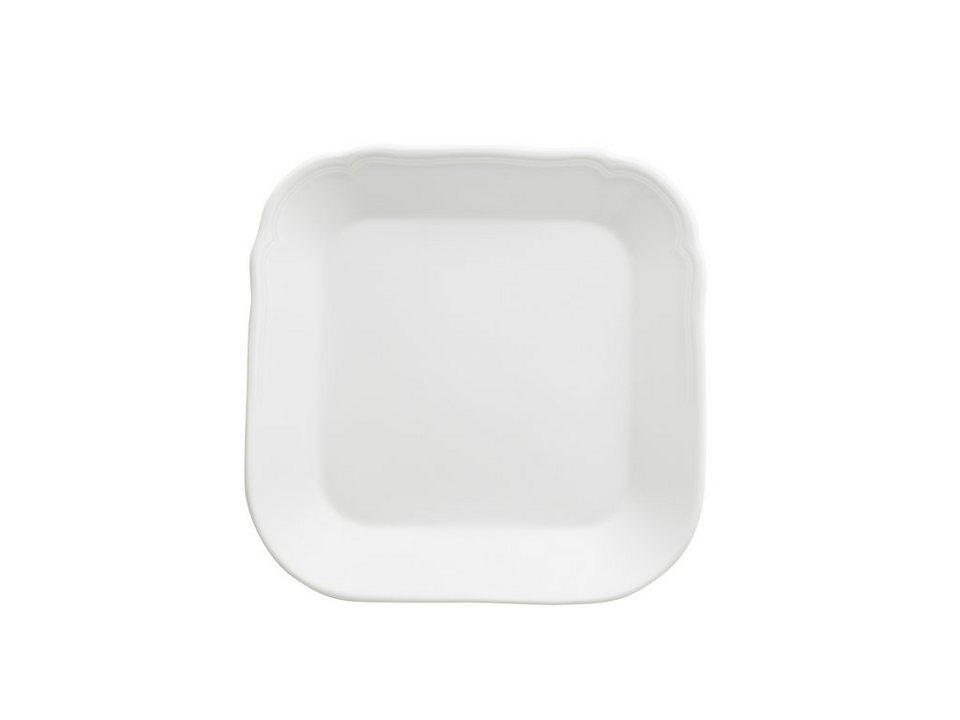 Kahla Platte quadratisch »Centuries Feston Weiß« in Weiß