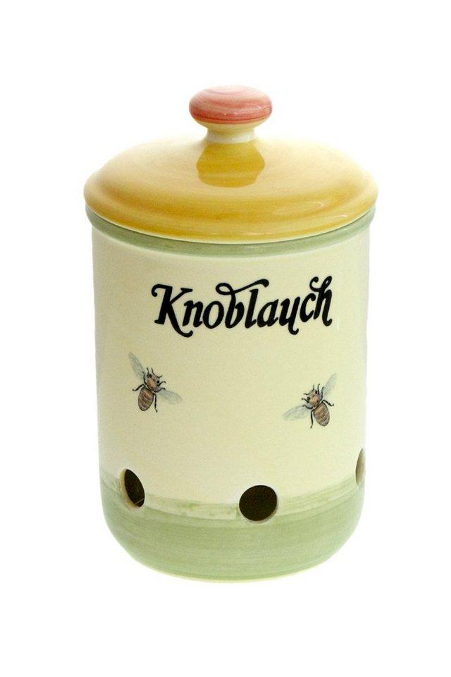 Zeller Keramik Knoblauchtopf »Biene« in Mehrfarbig