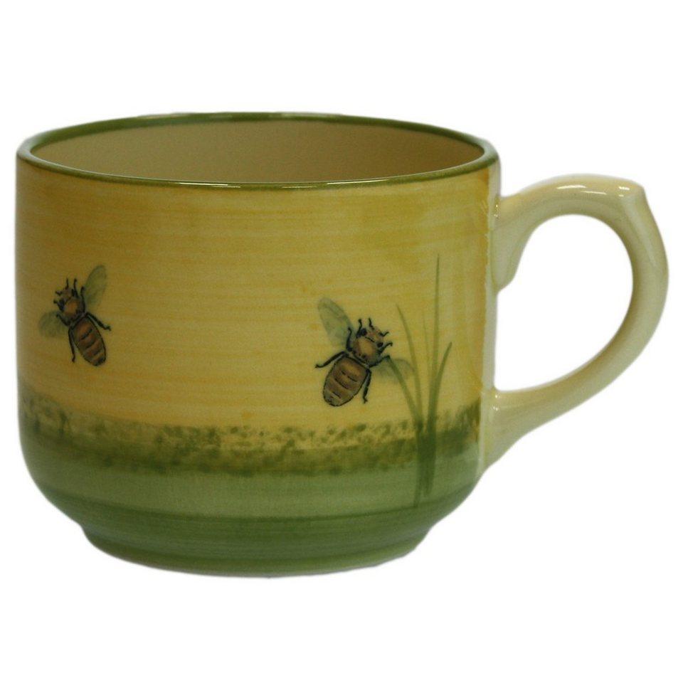 Zeller Keramik Jumbo Obertasse »Biene« in Mehrfarbig
