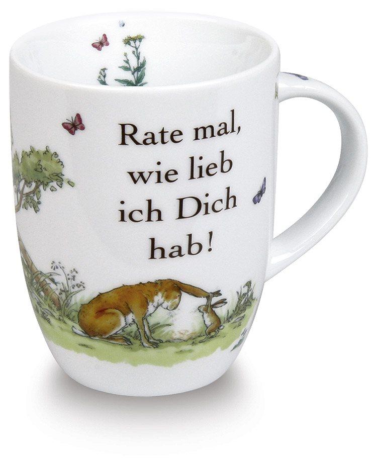 Könitz Becher Rate mal, wie lieb ich Dich hab! in Bunt