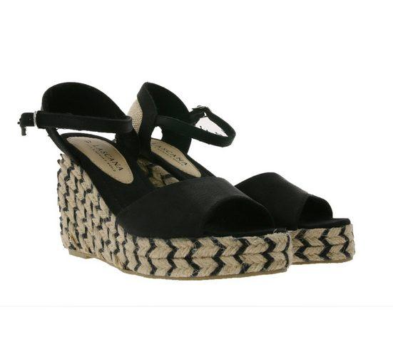 Bullboxer »BULLBOXER Sandalette elegante Damen Sandalen Freizeit-Sandalen in Veloursleder-Optik Schwarz« Sandalette