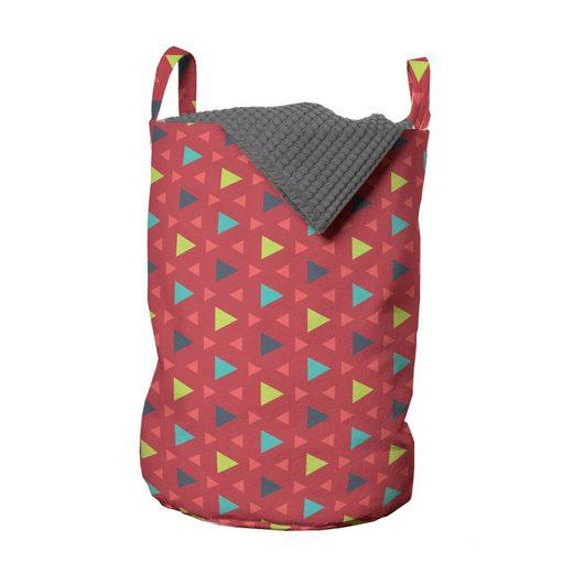 Abakuhaus Wäschesack »Wäschekorb mit Griffen Kordelzugverschluss für Waschsalons«, Bunt Geometrisches Dreieck-Muster