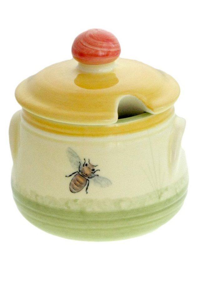 Zeller Keramik Geleedose »Biene« in Mehrfarbig