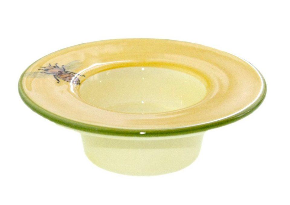 Zeller Keramik Teelichthalter mit weißem Teelicht »Biene« in Mehrfarbig