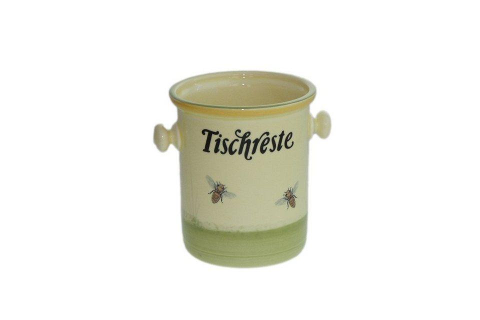 Zeller Keramik Tischrestebehälter »Biene« in Mehrfarbig