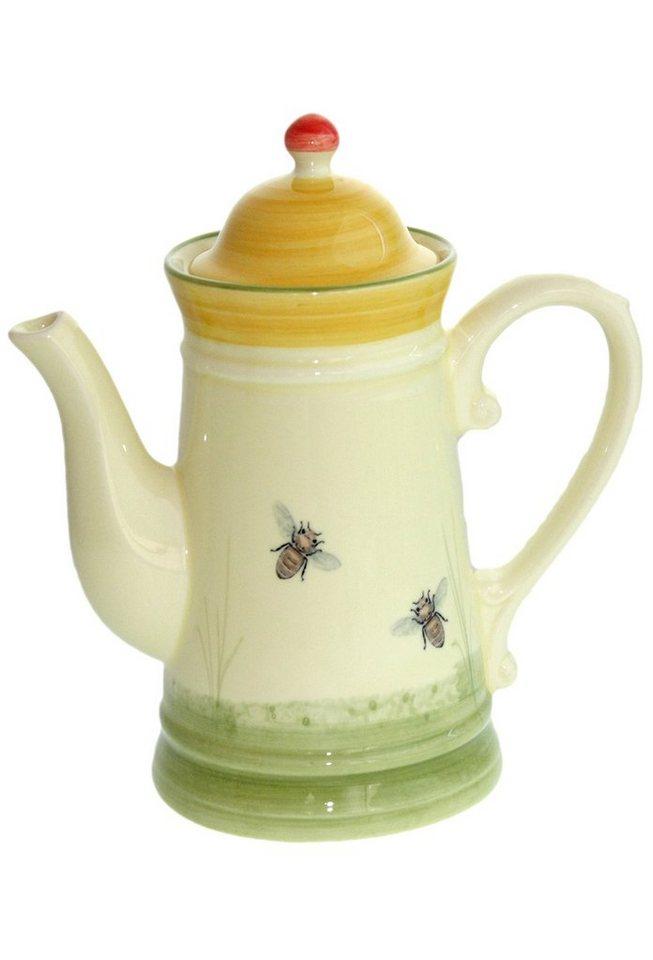 Zeller Keramik Kaffeekanne »Biene« in Mehrfarbig