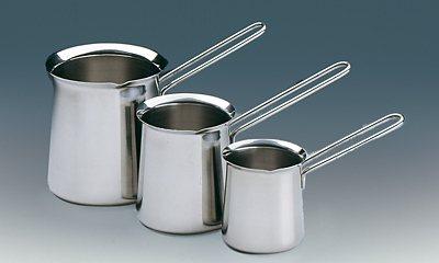 Küchenprofi Türkisch Mocca Aufschäumbecher in Silber