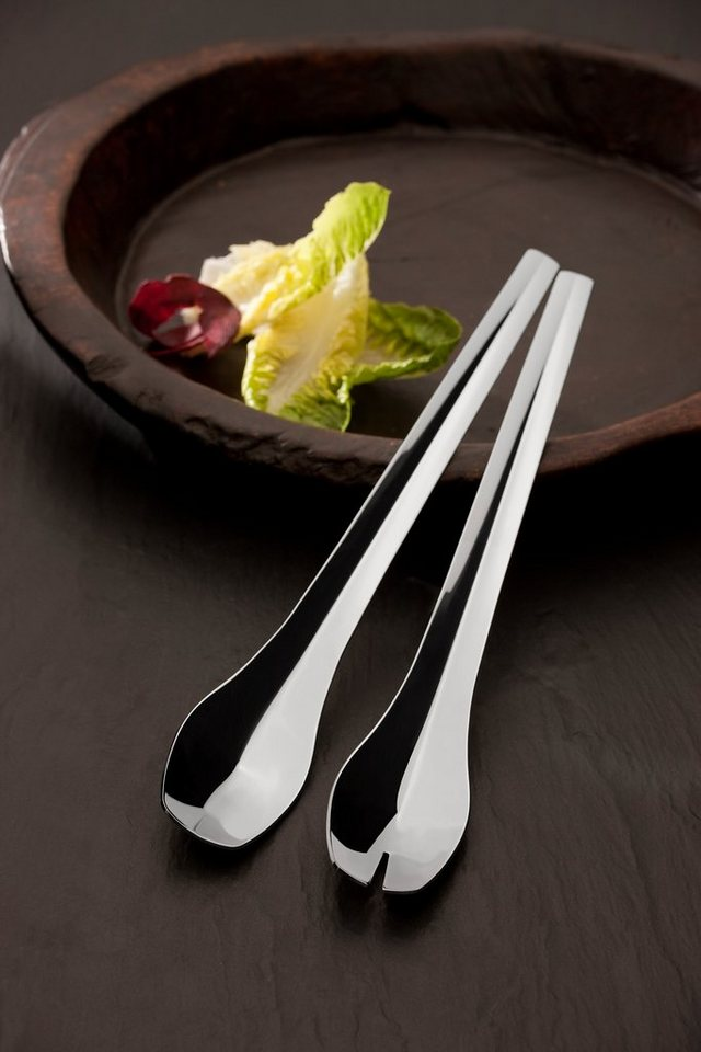 Carl Mertens Set: Salatbesteck Halm in Edelstahl, poliert