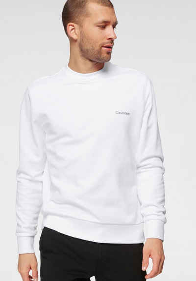 Calvin Klein Sweatshirt »SMALL CHEST LOGO SWEATSHIRT«, seitlich mit gerippten Einsätzen