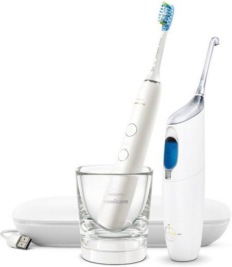 Philips Sonicare Zahnpflege-Set »HX8494«, Set, 2-tlg., Bonuspack, Munddusche AirFloss Pro/Ultra und elektrische Zahnbürste DiamondClean 9000
