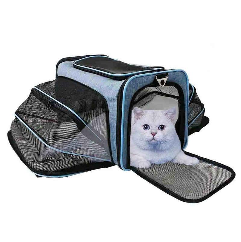 Abistab Pets Tiertransportbox, Hundebox faltbar für Auto-und Flugreisen