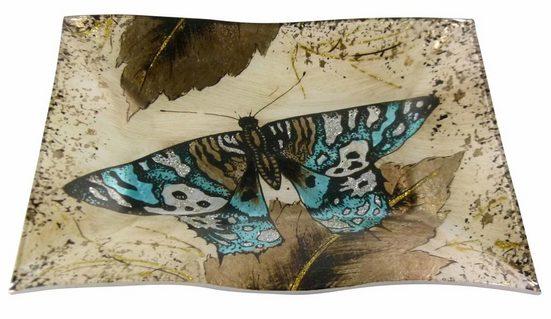 HTI-Living Dekoteller »Dekoteller Butterfly Gold Welle«