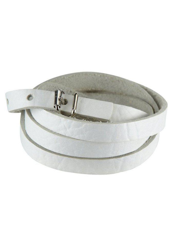 J. Jayz Armband zum Wickeln in weiß