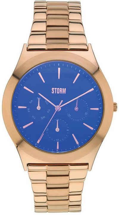 STORM Quarzuhr »UST47232/B0 Storm Damen Armbanduhr«, (Analoguhr), Damenuhr rund, groß (ca. 40mm), Edelstahl, Edelstahlarmband, Elegant-Style