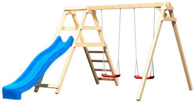 Empfehlung: Holz Doppelschaukel mit Wellenrutsche  von ABUKI*