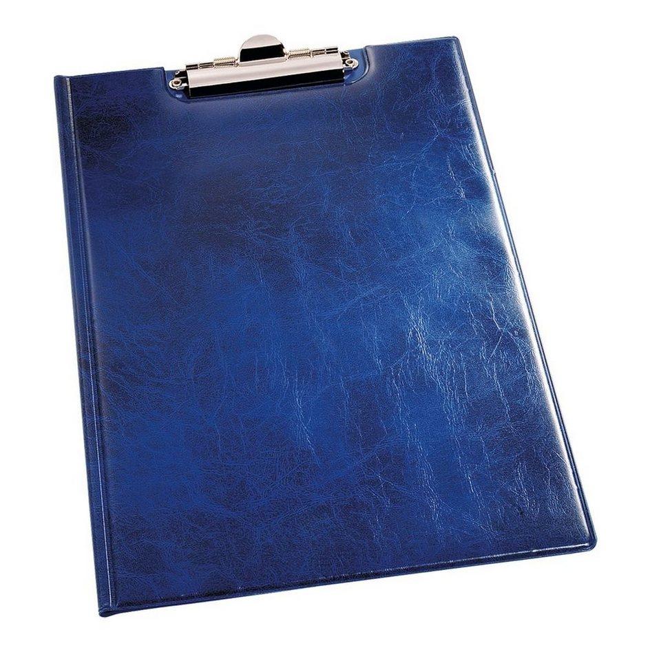 Durable Klemm-Mappe »Premium« in Lederoptik in blau