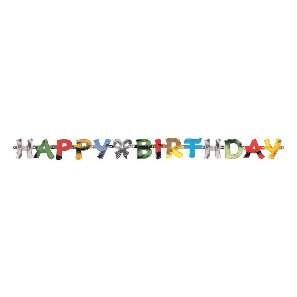 Papstar Papiergirlande »Happy Birthday«