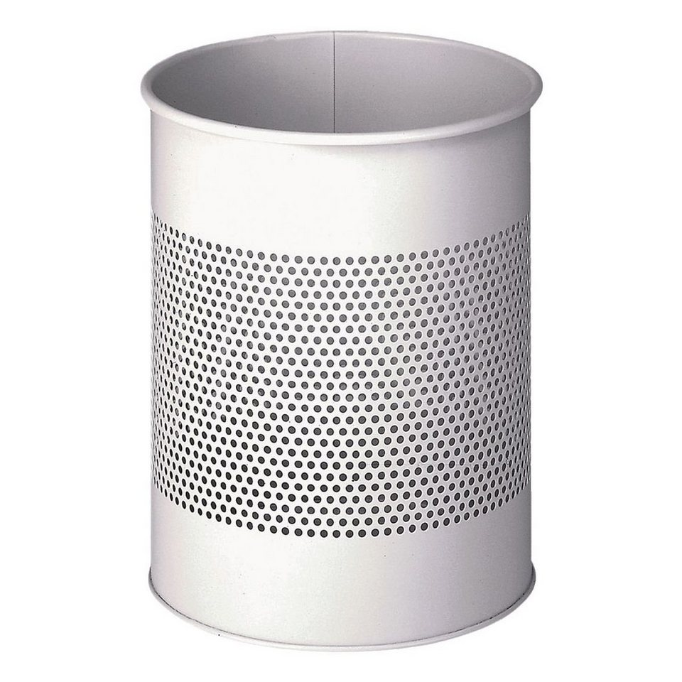 Durable Stahl-Papierkorb in lichtgrau