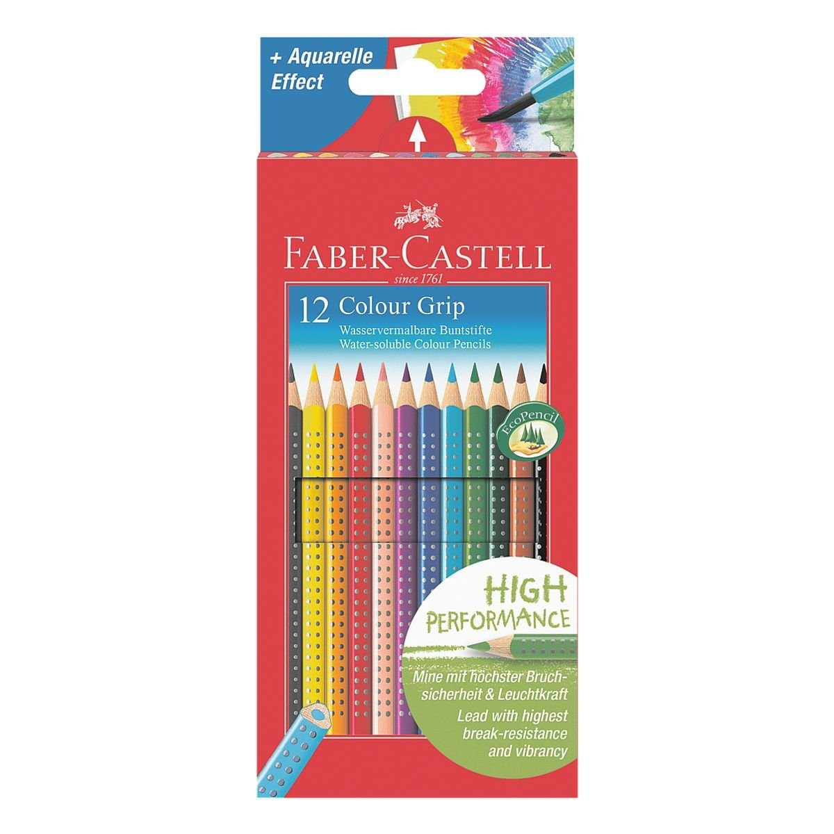 Faber-Castell (Schule) 12er-Pack Buntstifte »Colour-GRIP«