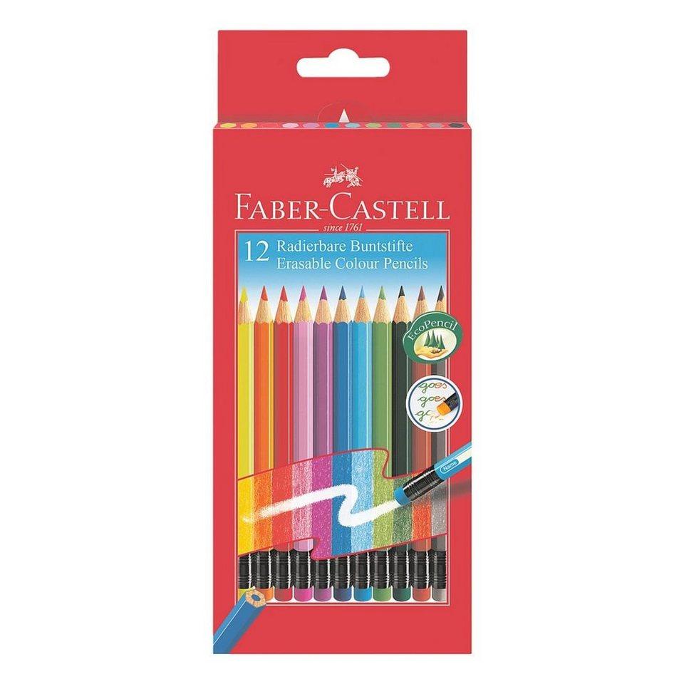 Faber-Castell 12er-Pack Buntstifte »radierbar«