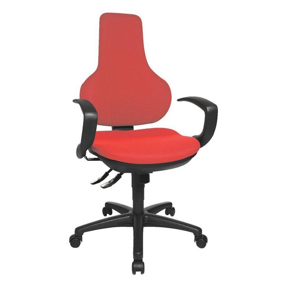 Topstar Bürostuhl »Ergo Point SY« ohne Armlehnen in rot