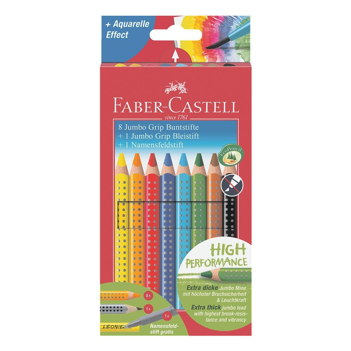 Faber-Castell 10er-Etui Buntstifte »Jumbo GRIP«