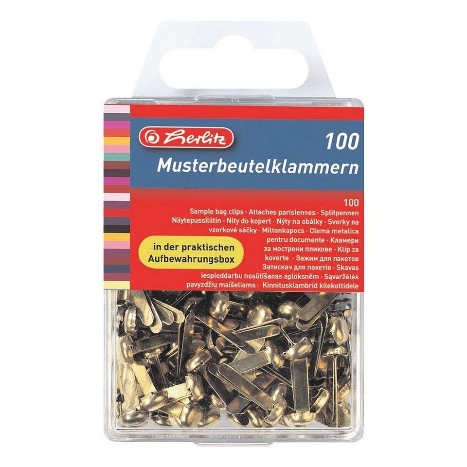 Herlitz Musterbeutel-Klammern