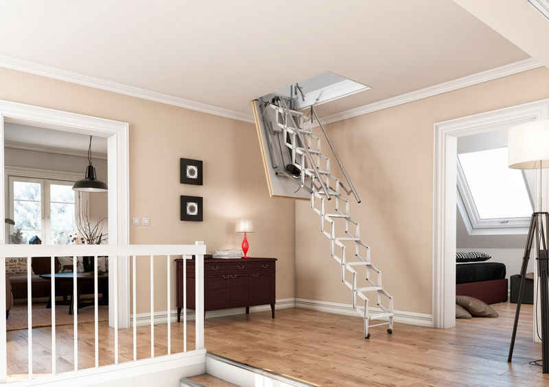 Dolle Bodentreppe »elektro-top«, für Geschosshöhen bis 280 cm, für Deckenöffnungen von 70x120 cm, Fichte
