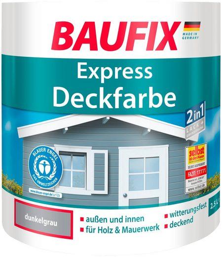 BAUFIX Buntlack express Deckfarbe dunkelgrau, 2,5 L