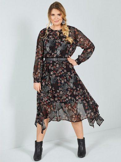 Sara Lindholm by Happy Size Kleid mit Blumendruck